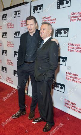 Stock Image of Liam Neeson and Michael Kutza