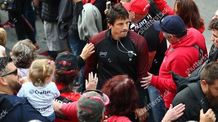 RC Toulon vs Newcastle Falcons. Toulon's Francois Trinh-Duc arrives