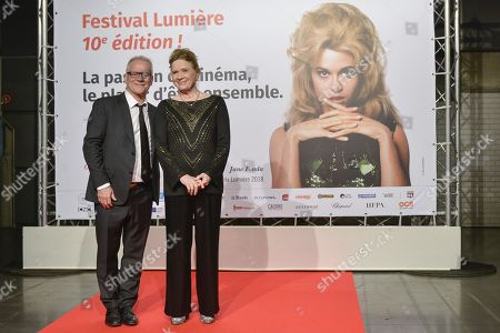 Stock Image of Thierry Fremaux and Liv Ullman