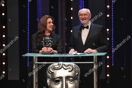 Barbara Broccoli and Michael G Wilson - presenting the Sian Phillips Award