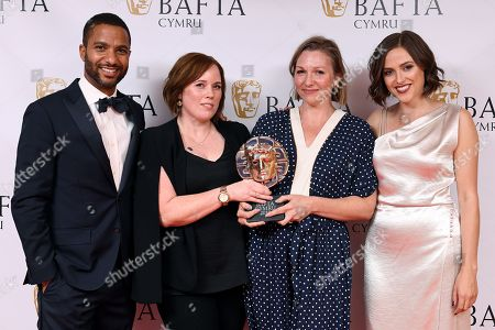 Editorial photo of British Academy Cymru Awards, Press Room, St David's Hall, Cardiff, Wales, UK - 14 Oct 2018