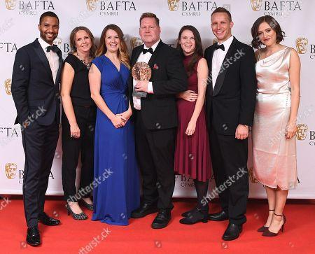 Editorial image of British Academy Cymru Awards, Press Room, St David's Hall, Cardiff, Wales, UK - 14 Oct 2018