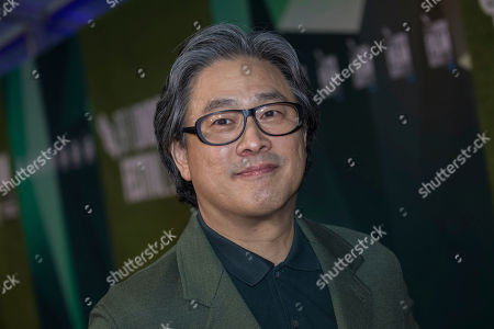Park Chan-wook poses for photographers upon arrival at the premiere for the film 'The Little Drummer Girl' showing as part of the BFI London Film Festival in London