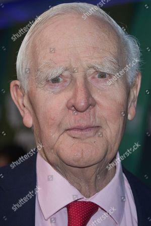 John le Carre poses for photographers upon arrival at the premiere for the film 'The Little Drummer Girl' showing as part of the BFI London Film Festival in London