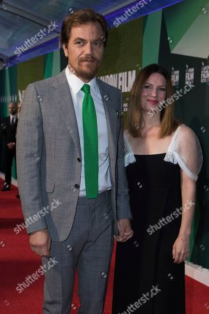 Michael Shannon, Kate Arrington. Michael Shannon and Kate Arrington pose for photographers upon arrival at the premiere for the film 'The Little Drummer Girl' showing as part of the BFI London Film Festival in London