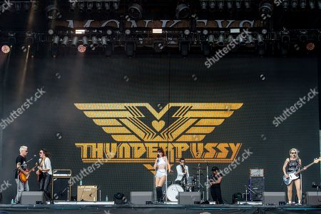 Whitney Petty, Mike McCready, Molly Sides, Leah Julius. Whitney Petty, from left, Mike McCready of Pearl Jam, Molly Sides and Leah Julius of Thunderpussy