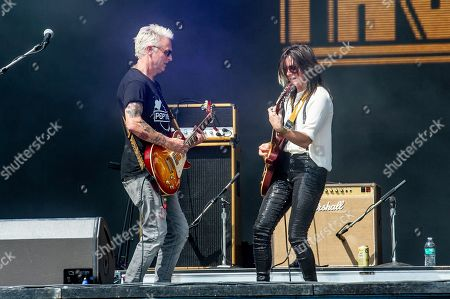 Mike McCready, left, of Pearl Jam and Whitney Petty of Thunderpussy