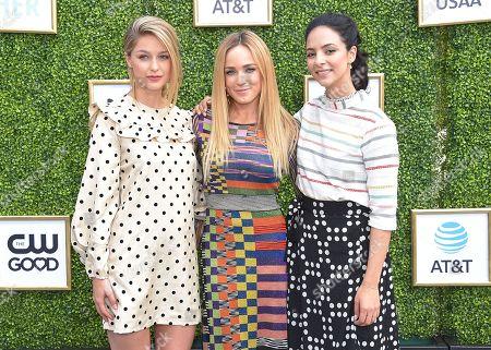 Melissa Benoist, Caity Lotz and Tala Ashe
