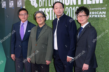 Park Chan-Wook (2nd L) and Wonjo Jeong (4th R)