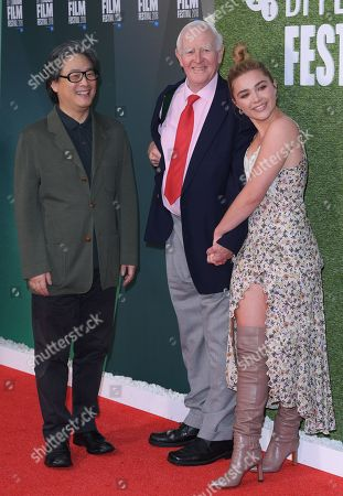 Stock Image of Park Chan-Wook, John Le Carre and Florence Pugh