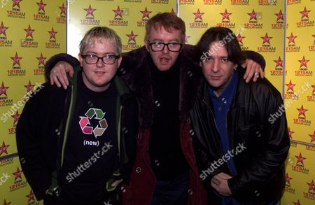 Chris Evans At Virgin Radio With Two New Dj's -geoff Lloyd (left) And Pete Mitchell