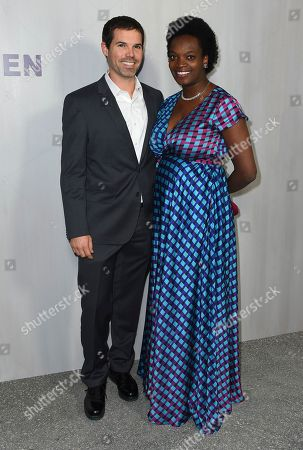 Stock Image of Justin Crosby, Njideka Akunyili Crosby. Justin Crosby and Njideka Akunyili Crosby arrive at the 16th Annual Hammer Museum Gala in the Garden on in Los Angeles
