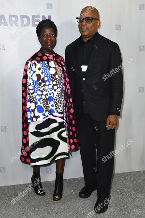 Glenn Ligon, Thelma Golden. Glenn Ligon and Thelma Golden arrive at the 16th Annual Hammer Museum Gala in the Garden on in Los Angeles