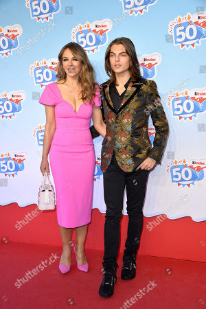 Elizabeth Hurley and son Damian Hurley