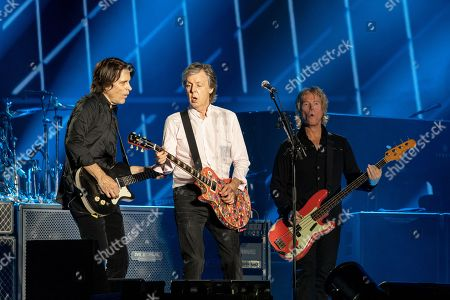Stock Picture of Sir Paul McCartney - Rusty Anderson, Sir Paul McCartney and Brian Ray