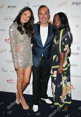 Claire Merry, Nick Ede and Michelle Gayle