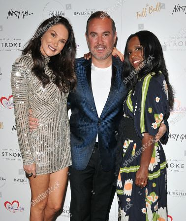 Stock Image of Claire Merry, Nick Ede and Michelle Gayle