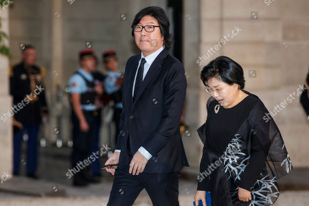 French former Minister Jean-Vincent Place arrives for a state dinner hosted by president Macron (unseen) for  South Korean President Moon Jae-in  (unseen) at the Elysee Palace in Paris, France, 15 October 2018. Moon is in Paris for a four-day state visit.