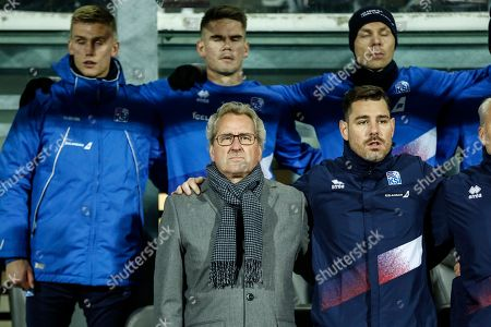 Iceland's coach Erik Hamren during the UEFA Nations League soccer match between Iceland and Switzerland at the Laugardalsvoellur stadium in Reykjavik, Iceland, 15 October 2018.