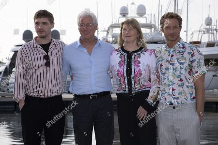 "Billy Howle (actor), Richard Gere (actor), Hilary Salmon (producer), Tom Rob Smith (writer) for the film ""MotherFatherSon"""