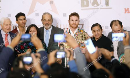 Editorial photo of Press conference of 'El Canelo' Alvarez in Mexico City - 15 Oct 2018