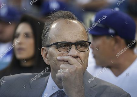 American professional baseball executive Joe Torre watches from the stands during the MLB National League Championship Series baseball game three between the Milwaukee Brewers and the Los Angeles Dodgers at Dodger Stadium in Los Angeles, California, USA, 15 October 2018.