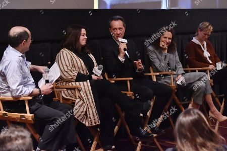 Brian Rose, Melissa McCarthy, Richard E. Grant, Dolly Wells, and Anne Carey