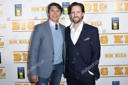 "Lou Diamond Phillips, Scott Martin. Lou Diamond Phillips, left, and Christoph Sanders attend the LA premiere of ""Big Kill"" at ArcLight Hollywood, in Los Angeles"