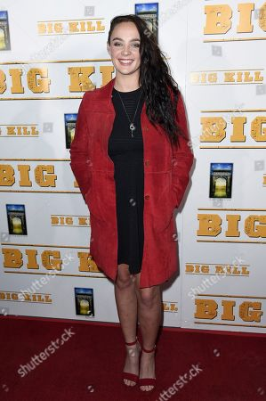 "Stock Photo of Stevie Lynn Jones attends the LA premiere of ""Big Kill"" at ArcLight Hollywood, in Los Angeles"