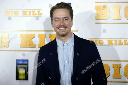 "Christoph Sanders attends the LA premiere of ""Big Kill"" at ArcLight Hollywood, in Los Angeles"