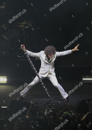 Spanish musician and singer Enrique Bunbury performs on stage during a concert as part of his 'Ex Tour 2018' tour at the National Auditorium in Mexico City, Mexico, 15 October 2018.