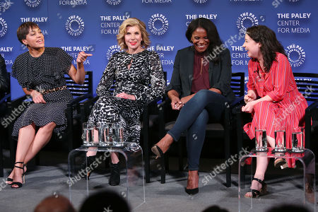 Cush Jumbo, Christine Baranski, Audra McDonald and Sarah Steele