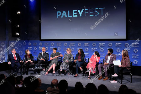 Robert King, Michelle King, Michael Boatman, Cush Jumbo, Christine Baranski, Audra McDonald, Sarah Steele, Nyambi Nyambi and Kristen Baldwin