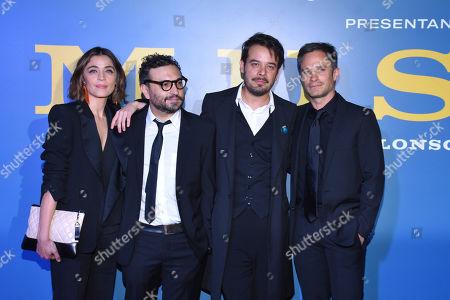 (R-L) Ilse Salas, Alonso Ruizpalacios, Leonardo Ortizgris and Gael Garcia Bernal