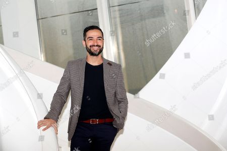 Mexican actor and singer Alfonso Herrera, talent presented by Fox, poses during a photocall at the annual MIPCOM television content market in Cannes, France, 16 October 2018. The media event runs from 15 to 18 October.