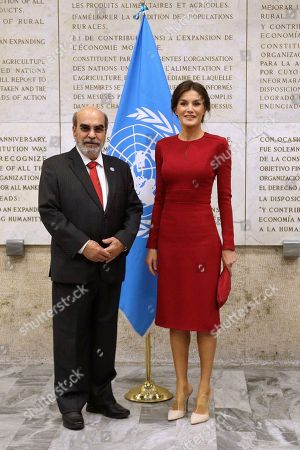 Queen Letizia visit to Rome
