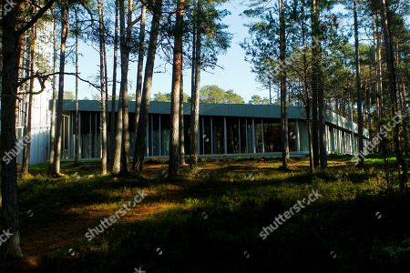 Stock Image of View of the Arvo Part Centre in Laulasmaa, Estonia, 15 October 2018. (issued 16 October) The Arvo Part Centre was designed by architects Fuensanta Nieto and Enrique Sobejano and introduces Estonian composer Arvo Part?s creative heritage. The centre was built in a area of Laulasmaa, about 40 kilometres from the Estonian capital, Tallinn, and will be open for visitors on 17 October 2018.