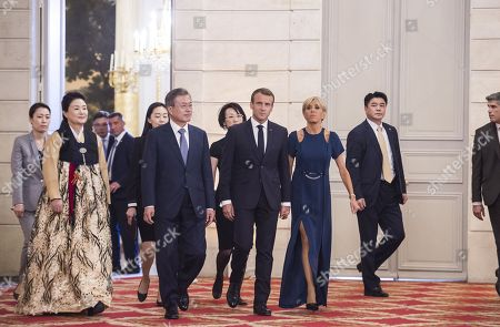 Editorial image of South Korean President Moon Jae-in visit to France - 15 Oct 2018
