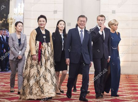 Editorial picture of South Korean President Moon Jae-in visit to France - 15 Oct 2018
