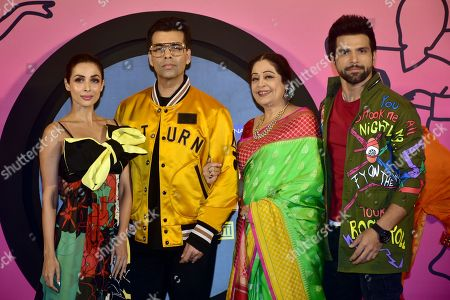 Indian film Actress Malaika Arora, Karan Johar, Kirron Kher and Rithvik Dhanjani