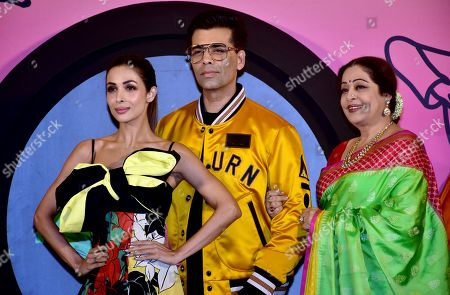Indian film Actress Malaika Arora, Karan Johar and Kirron Kher