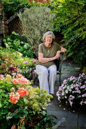 Editorial photo of Penelope Lively in her garden, London, UK - 01 Aug 2018