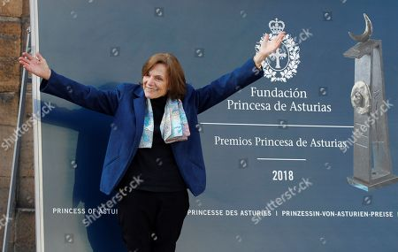 US marine biologist Sylvia A. Earle poses upon arrival in Oviedo, Spain, 16 October 2018. Earle will receive the Princess of Asturias Award for Concord next 19 October 2018. The Princess of Asturias Awards are given every year to personalities or organizations from all around the world who make significant achievements in the sciences, arts, literature, humanities and sports.