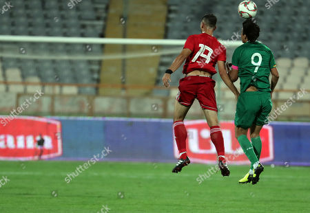 Iran's Majid Hosseini (l) in action against Bolivia Marcelo Moreno (R) during a friendly soccer match between Iran and Bolivia at the Azadi Stadium in Tehran, Iran, 16 October 2018.