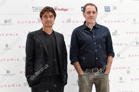 Actors Riccardo Scamarcio and Valerio Mastandrea