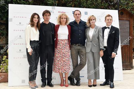 Director Valeria Golino with con Valentina Cervi, Riccardo Scamarcio, Valerio Mastandrea, Isabella Ferrari, Andrea Germani