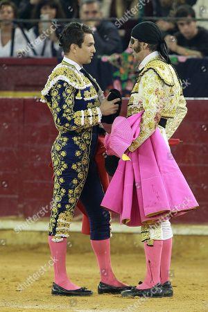 Stock Image of Bullfighter Jose Maria Manzanares greets Padilla