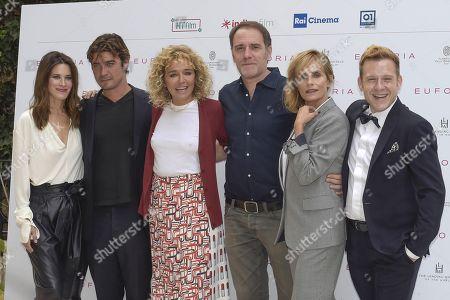 (L) Valentina Cervi, Riccardo Scamarcio, Valeria Golino, Valerio Mastandrea, Isabella Ferrari and Andrea Germani