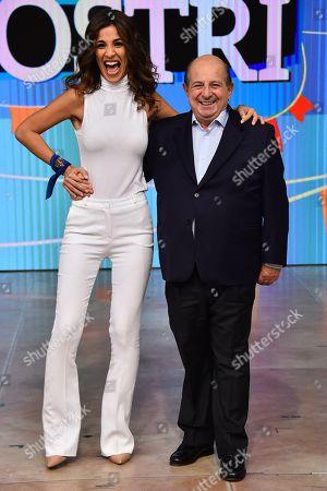 Stock Photo of Roberta Morise and Giancarlo Magalli