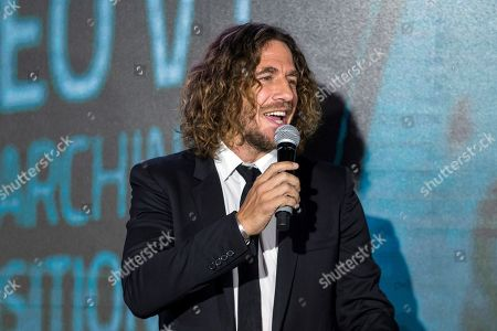 Spanish former soccer player Carles Puyol attends the presentation of LaLiga Ambassadors, in Madrid, Spain, 16 October 2018. LaLiga Ambassadors is a project to represent the Spanish LaLiga soccer league around the world through LaLiga former players.